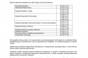 Komunikat Wójta Gminy Zbrosławice